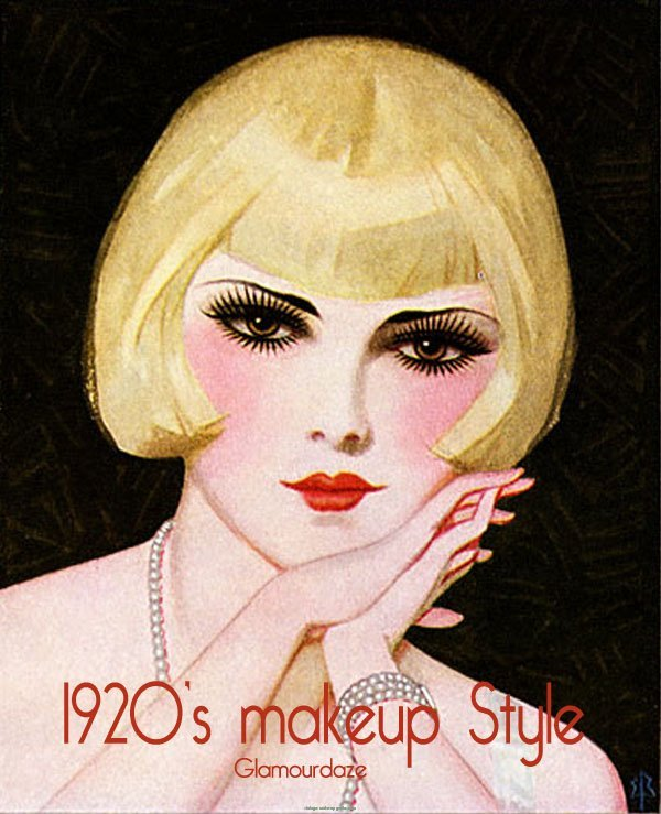 1920s Flapper Makeup Style