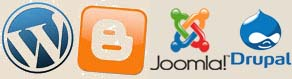 wordpress-blogger-joomla-drupal-logo