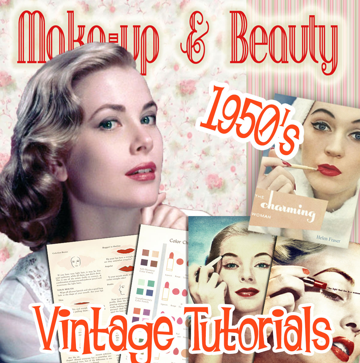 1950s makeup tutorials -instant download