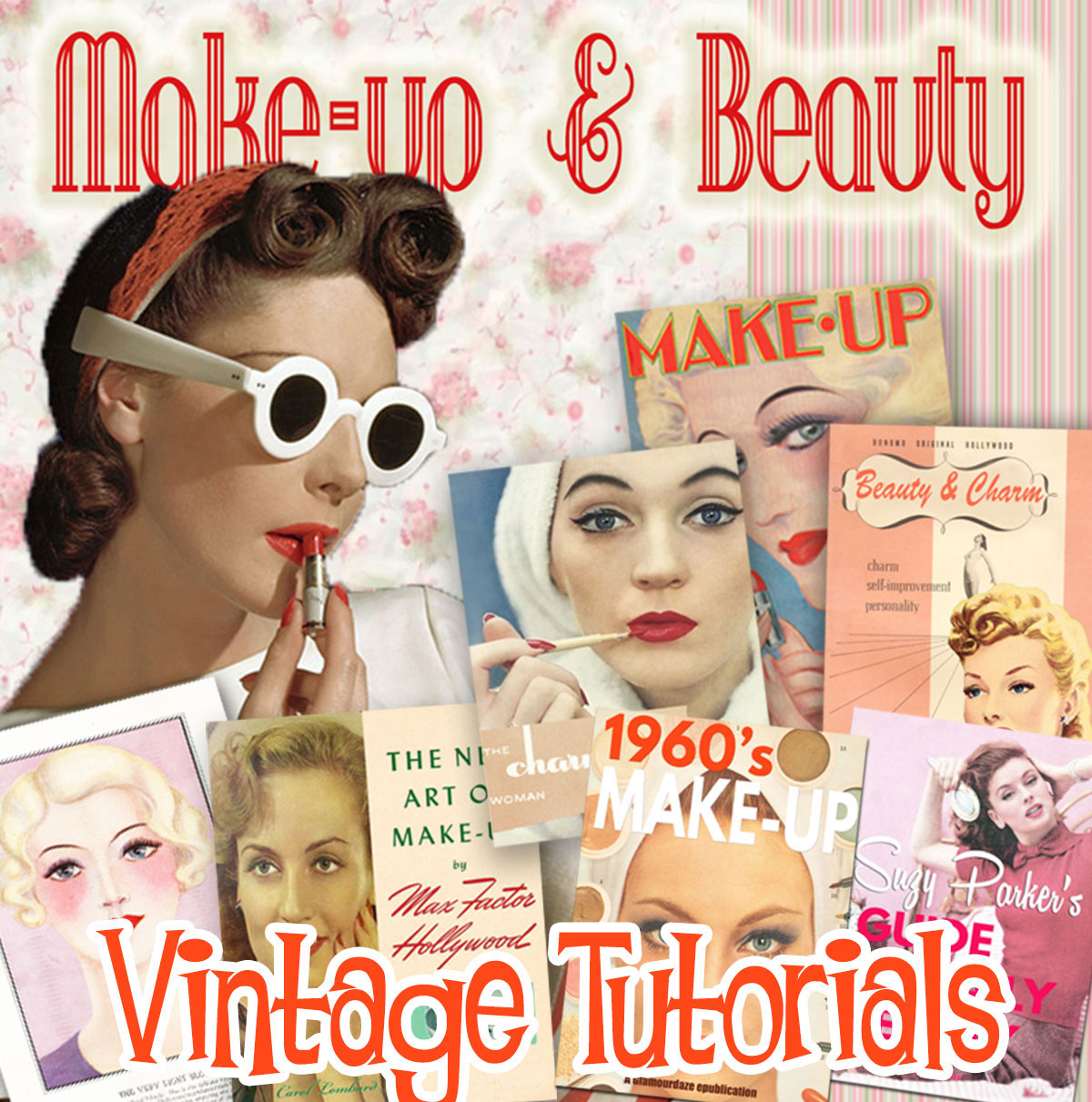 Vintage-make-up-books - 1920s to the 1960s