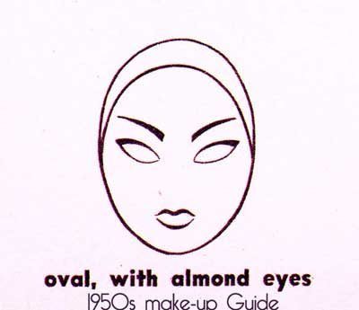 1950s-eyebrow-shape---oval-face-with-almond-eyes