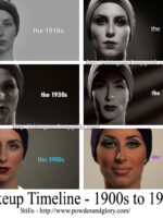 Womens-Makeup-Looks---Timeline---1900-to-1960s