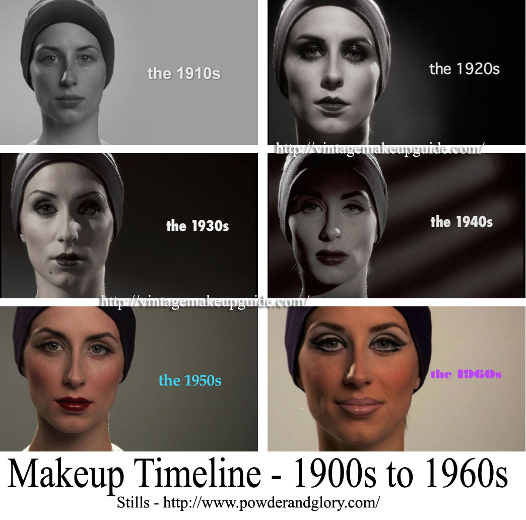 Makeup Timeline – 1900 to 1960s