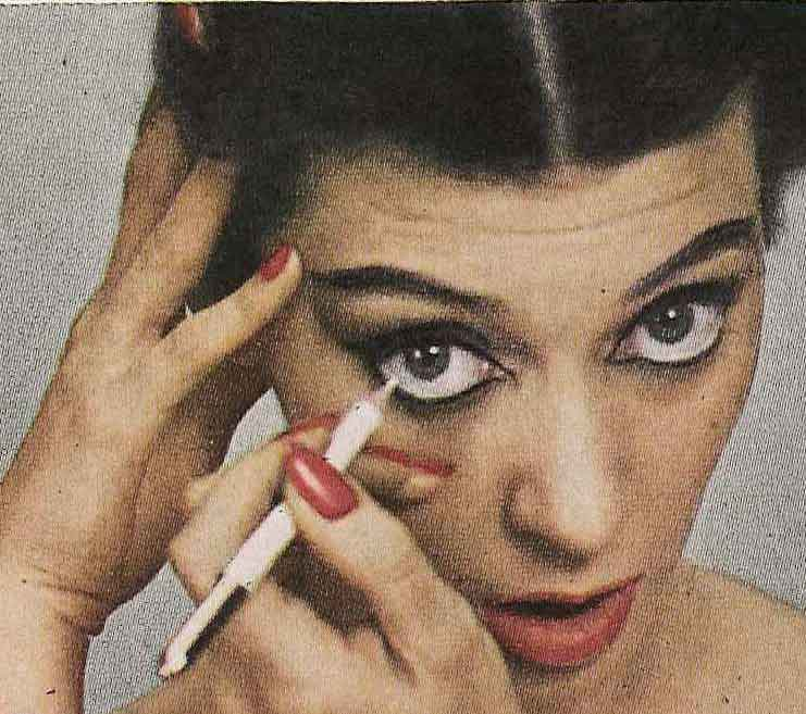 Vogue-1950-Eye-Makeup-Tutorial--Model-Barbara-Mullen