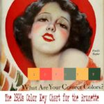 1920s Color Chart for your type – Brunettes