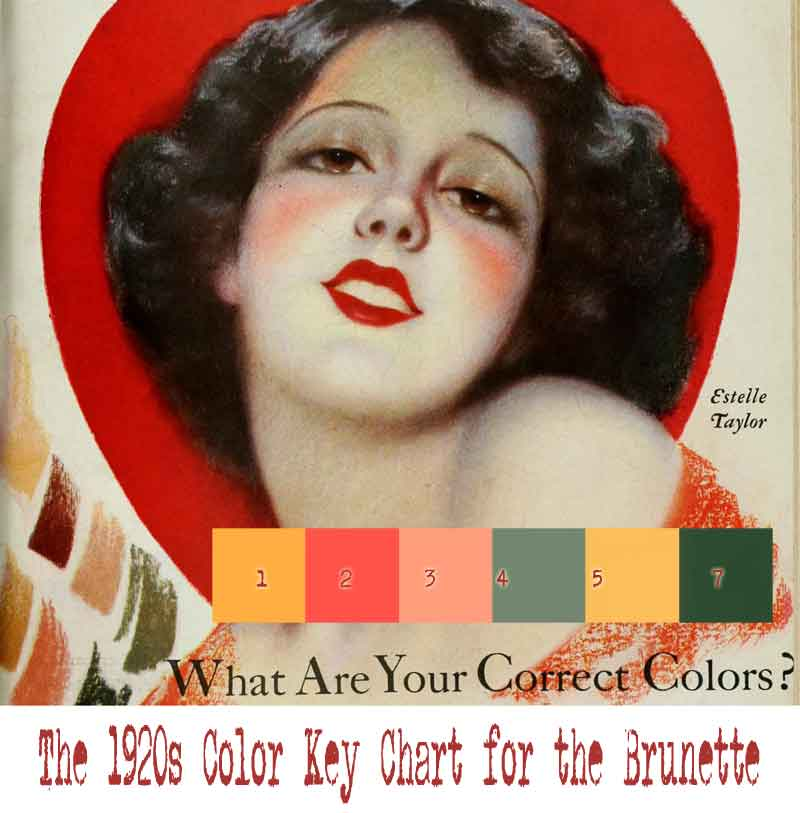 1920s Color Chart For Your Type Brunettes Vintage