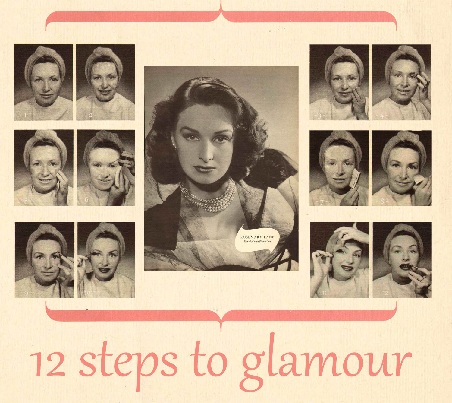 Rosemary-Lane's-12-Steps-to-Glamour---1940s-Guide---infographic