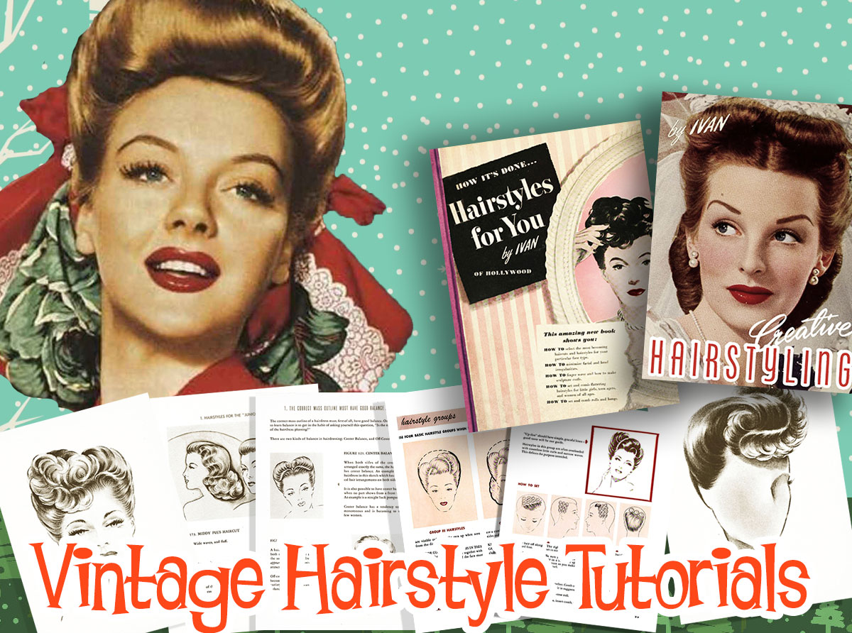 1940s Hairstyle Tutorials | vintage makeup guide