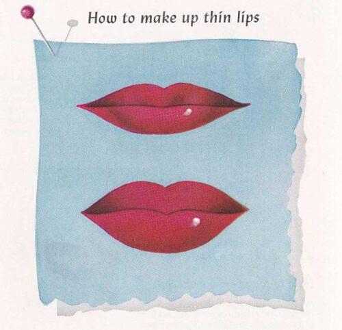 1950-Max-Factor-Hollywood-makeup-book---thin lips