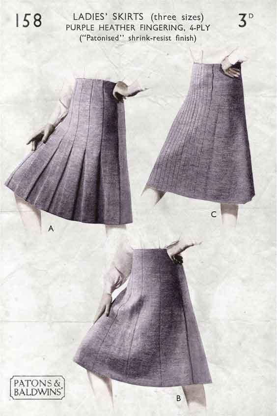 1940-Ladies-Skirt-Patterns---Download WW2 Blitz Women Pack