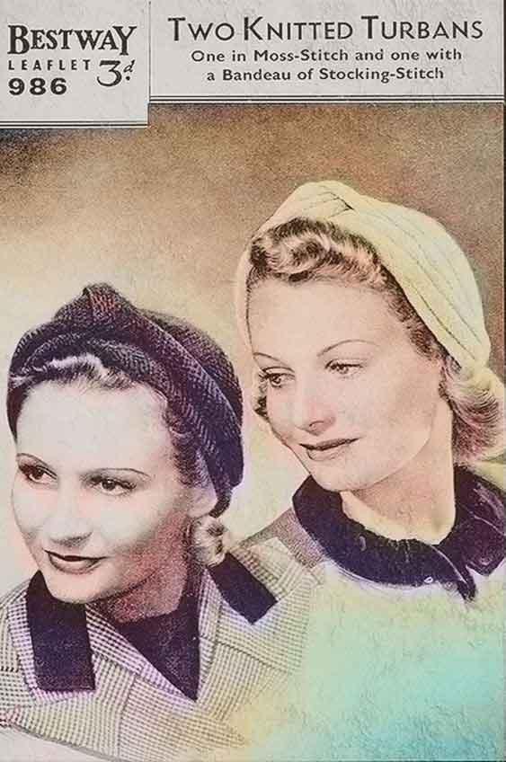 1940-Turban-Pattern---Download WW2 Women Pack