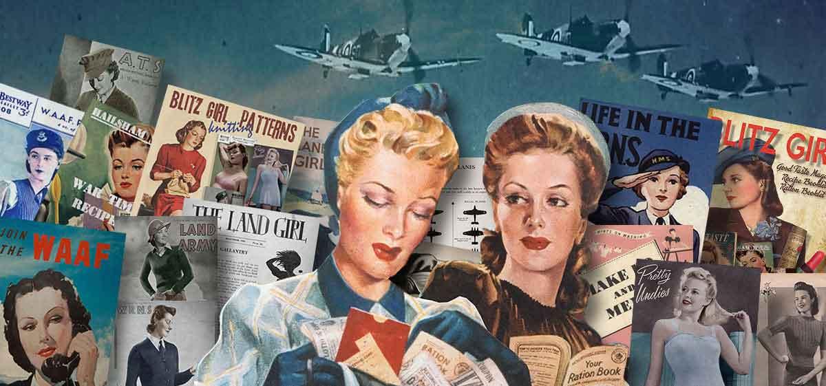 British 1940s WW2-Women-Handbooks