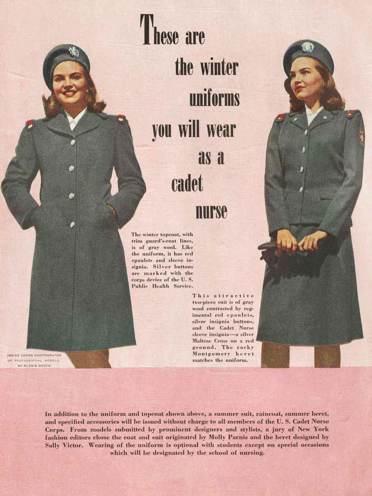 Cadet-Nurse-Uniforms---WW2-Women-Memorabilia-Pac
