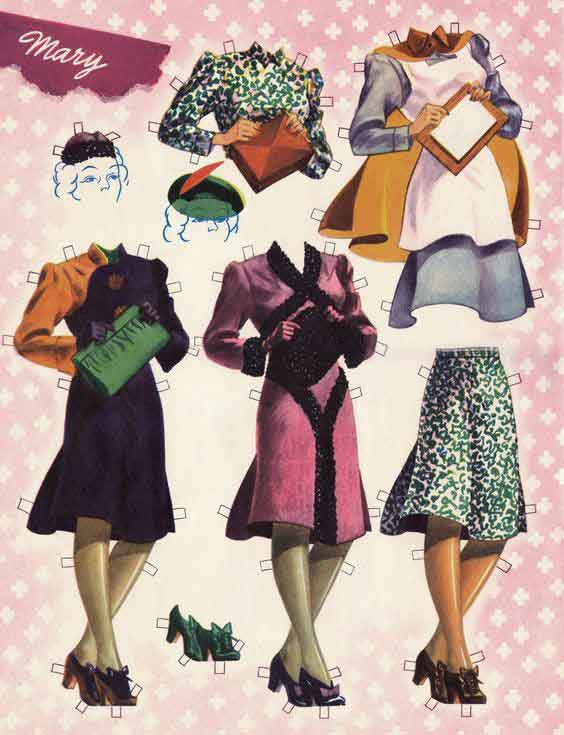 Girls-in-the-WAR-Paper-Dolls-Booklet---Download-WW2-Women-Pack