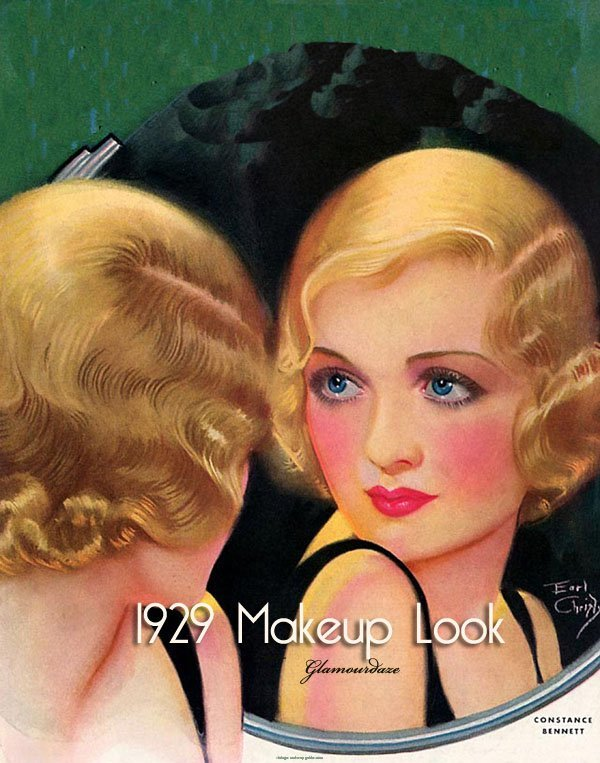 1920s Flapper Makeup style7