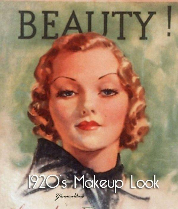 1920s Flapper Makeup Look Vintage Makeup Guides - 1920s-makeup-ads