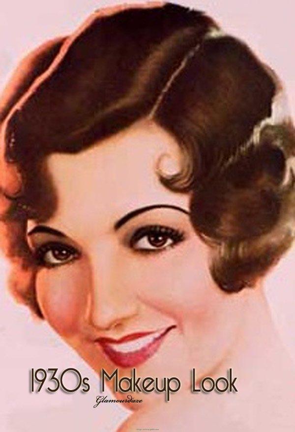 Vintage 1930s Makeup Look
