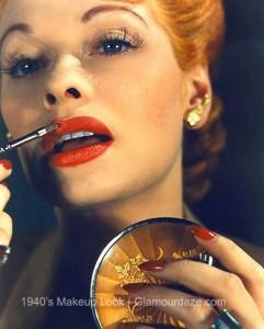 Lucille-Ball-Max Factor lipstick 1940s