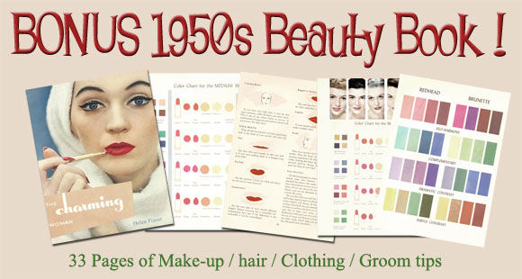 1950's beauty and Makeup Book - This Charming Woman