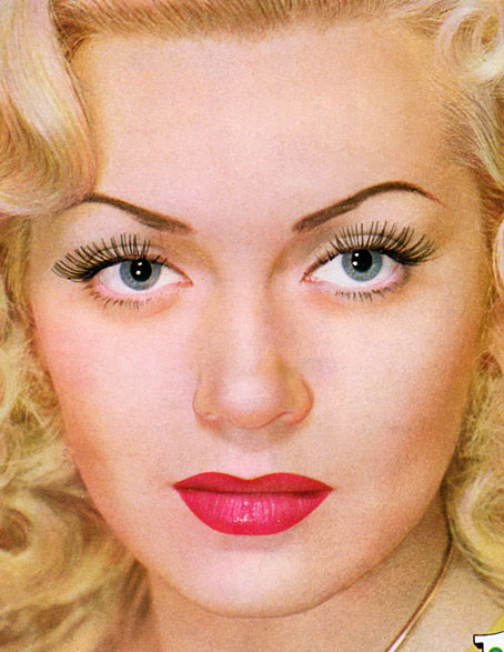Vintage makeup face contouring tips