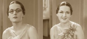 Hollywood-Eyebrows-1930s-Makeup-Tutorial--Glasses--before-and-after