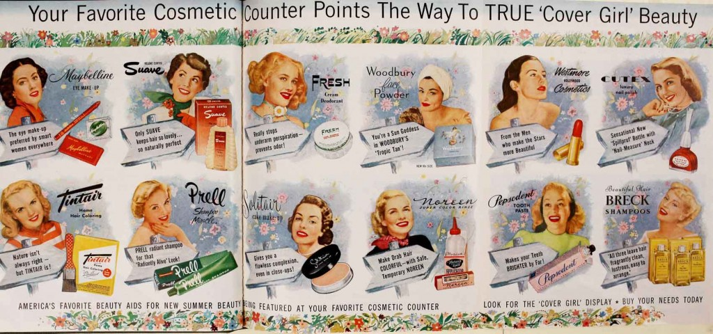 Some names are still with us, some brands are fondly remembered and some are completely forgotten. Every generation of women will remember her own personal must haves. These are the top listed beauty aids, hair products and makeup products for 1951.