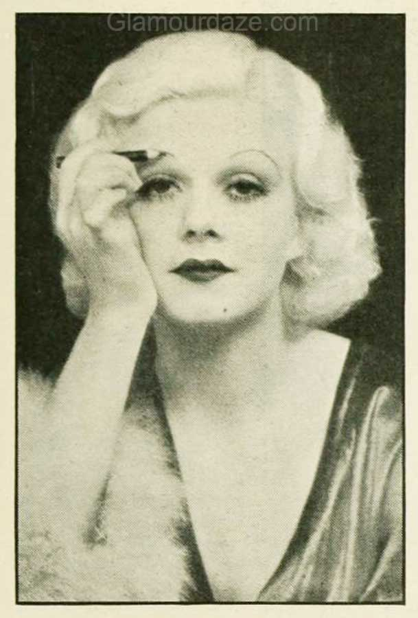 1930s-Makeup-The-Jean-Harlow-Look-eyebrows
