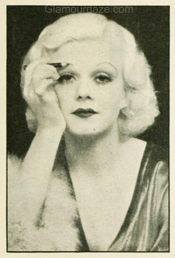 1930s-Makeup-The-Jean-Harlow-Look-eyebrows