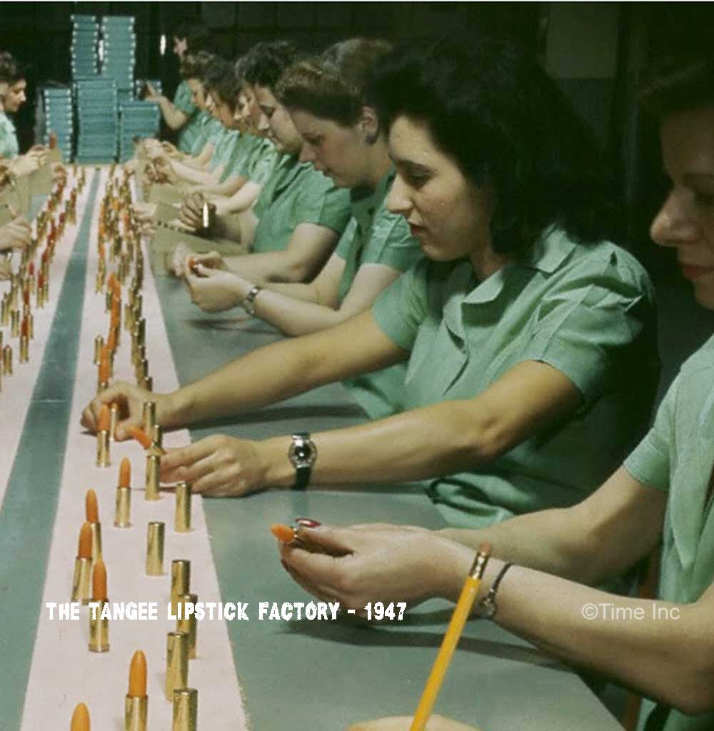 The Tangee Lipstick Factory 1947-assembly-line2