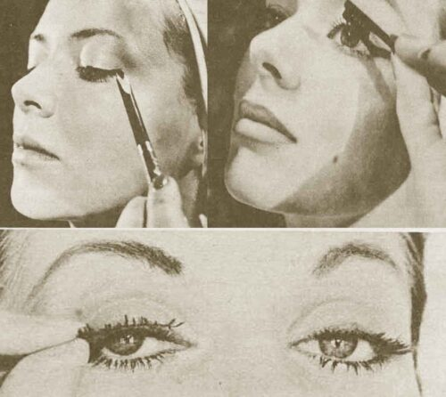 1950s-Star-Hints-on-Eye-Glamour---pencil-mascara-lashes