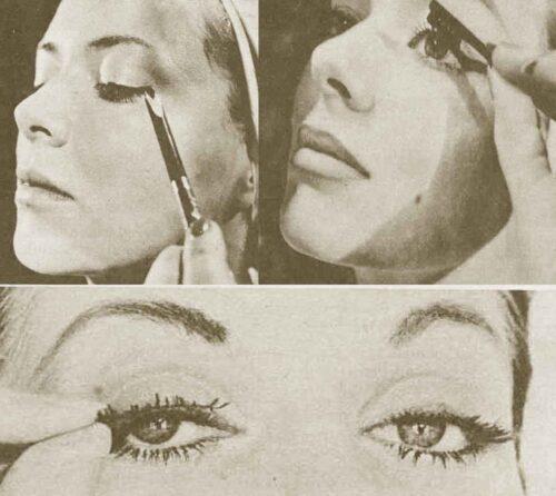 1950s-Star-Hints-on-Eye-Glamour---pencil-mascara-lashes