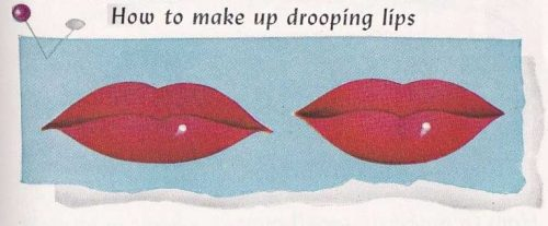 1950-Max-Factor-Hollywood-makeup-book---drooping-lips