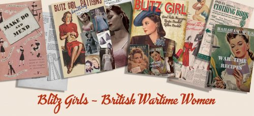 British 1940s Women in WW2 Memorabilia - The Blitz Girl