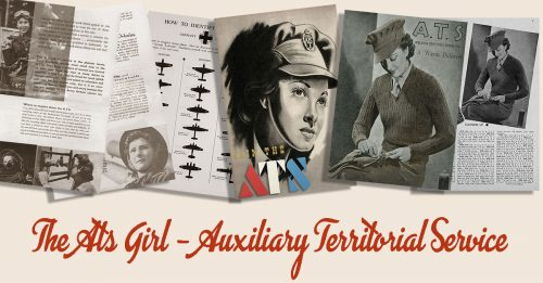 British 1940s Women in WW2 Memorabilia- ATS Girl