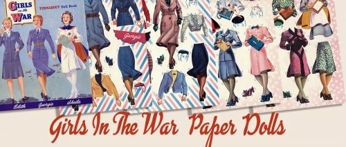 American 1940s Wartime Women Memorabilia - Paper Doll uniforms