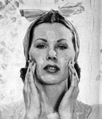 Illustrated Guide to 1940s skin beauty 1945