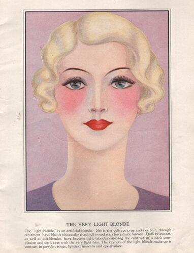 1930s makeup book